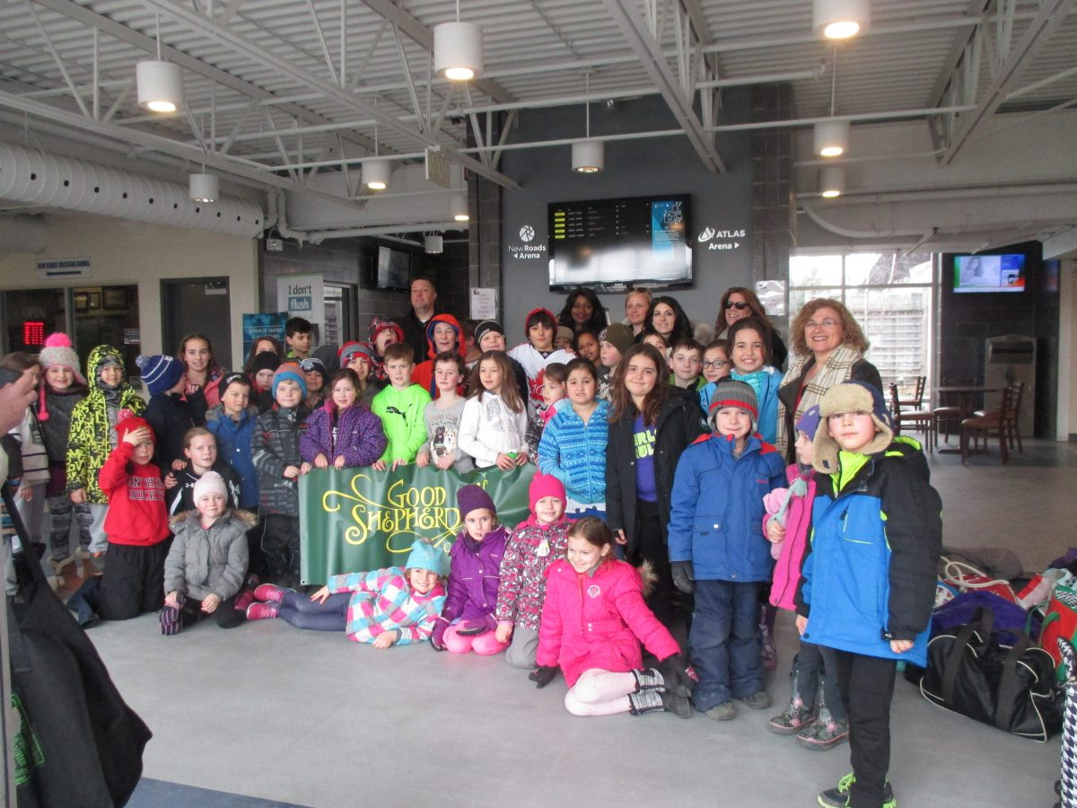 Grades 1 to 4 Students enjoyed their skating morning first