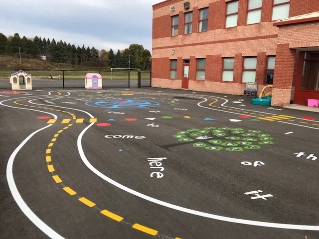 Games Painted In Kindergarten Yard!