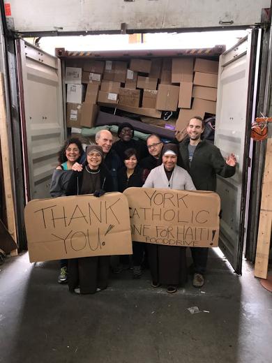 CFSOP THANK YOU TO YORK CATHOLIC FOR 1-4-HAITI FOOD DRIVE