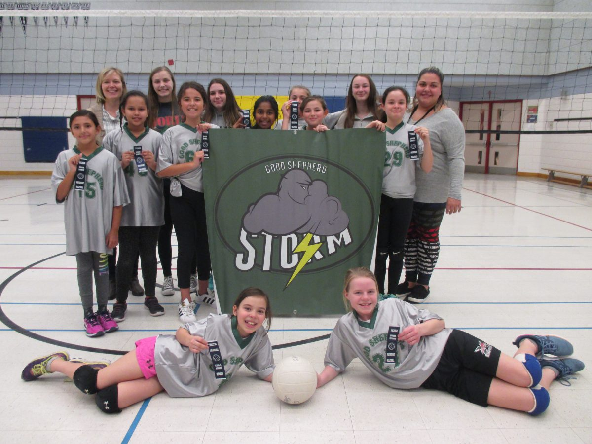 Girls Junior Volleyball represented Good Shepherd Well!